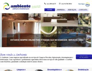 ambientelimpeza.com.br screenshot