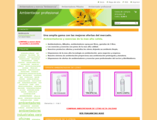 ambiesencia.com screenshot
