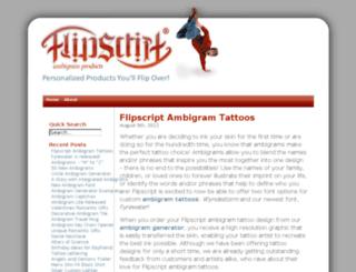 ambigrams.flipscript.com screenshot