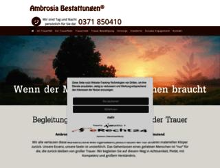 ambrosiabestattung.de screenshot