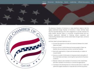 amchamqatar.org screenshot