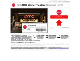 amcmovie.couponrocker.com screenshot