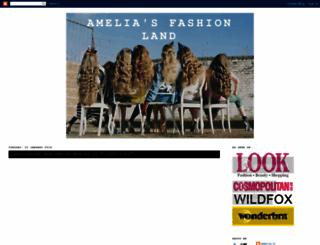 ameliafashionland.blogspot.com screenshot