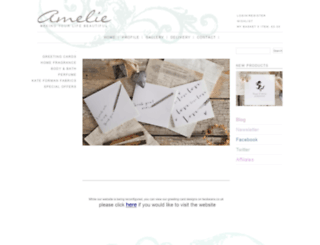 amelie.co.uk screenshot