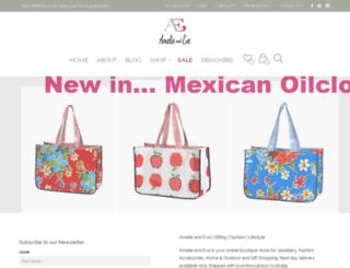 amelieandeve.com.au screenshot