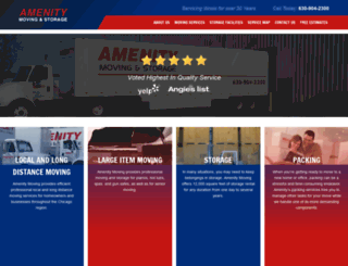 amenitymoving.com screenshot