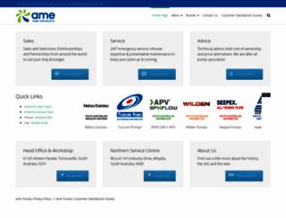 amepumps.com.au screenshot