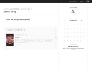 america-on-tap.ticketleap.com screenshot