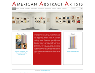 americanabstractartists.org screenshot