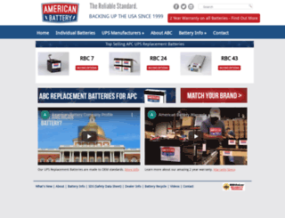 americanbatterycompany.com screenshot