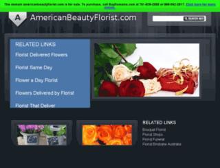 americanbeautyflorist.com screenshot