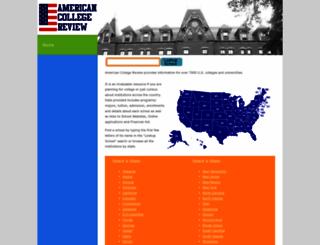 americancollegereview.com screenshot