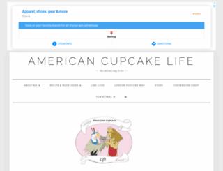 americancupcakeabroad.com screenshot