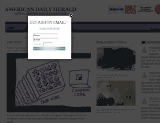 americandailyherald.com screenshot