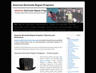americandoctoratedegreeprograms.com screenshot