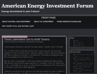 americanenergyinvestmentforum.com screenshot