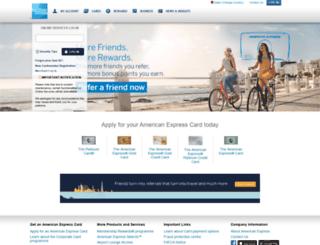 americanexpress.com.qa screenshot
