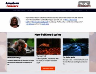 americanfolklore.net screenshot