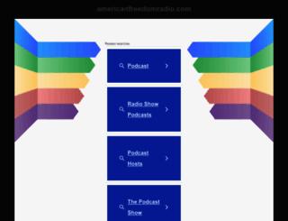 americanfreedomradio.com screenshot