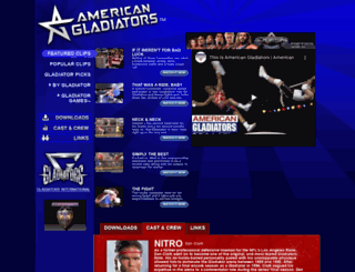 americangladiators.com screenshot