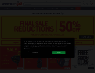 americangolf.co.uk screenshot
