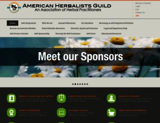 americanherbalistsguild.com screenshot