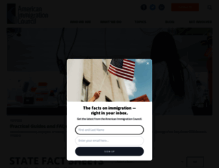 americanimmigrationcouncil.org screenshot