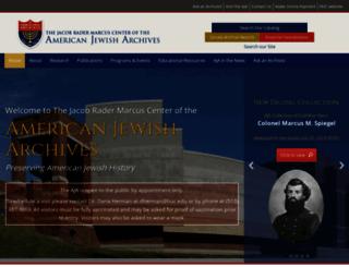 americanjewisharchives.org screenshot
