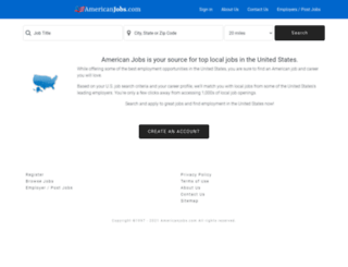 americanjobs.com screenshot
