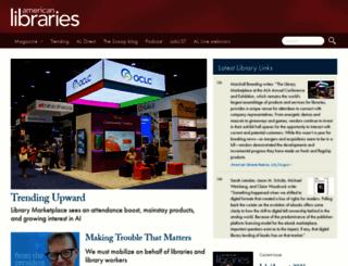 americanlibrariesmagazine.org screenshot