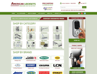 americanlocksets.com screenshot