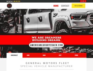 americanluxurycoach.com screenshot