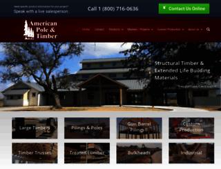 americanpoleandtimber.com screenshot