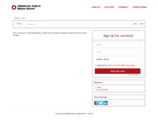 americanpublicmedia.applicantpro.com screenshot