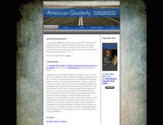americanquarterly.org screenshot