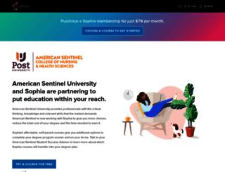americansentinel.sophia.org screenshot