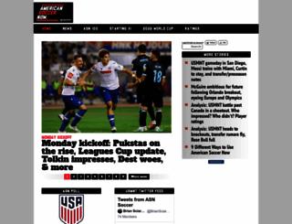 americansoccernow.com screenshot