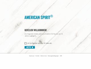 americanspirit-info.de screenshot