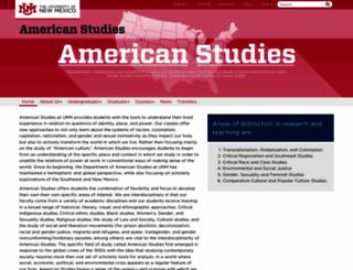 americanstudies.unm.edu screenshot