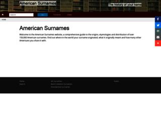 americansurnames.us screenshot