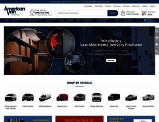 americanvan.com screenshot