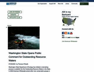 americanwhitewater.org screenshot