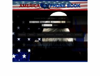 americaphonebook.com screenshot