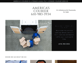 americascourier.com screenshot