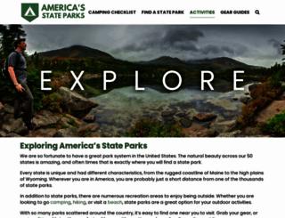 americasstateparks.org screenshot