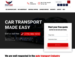 amerifreight.net screenshot