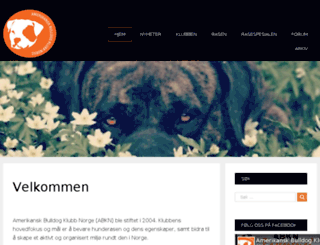 amerikanskbulldog.no screenshot