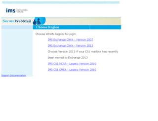 amermail.imshealth.com screenshot