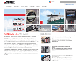 ametekcalibration.com screenshot