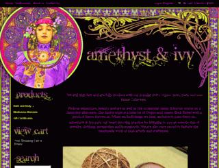 amethystandivy.com screenshot